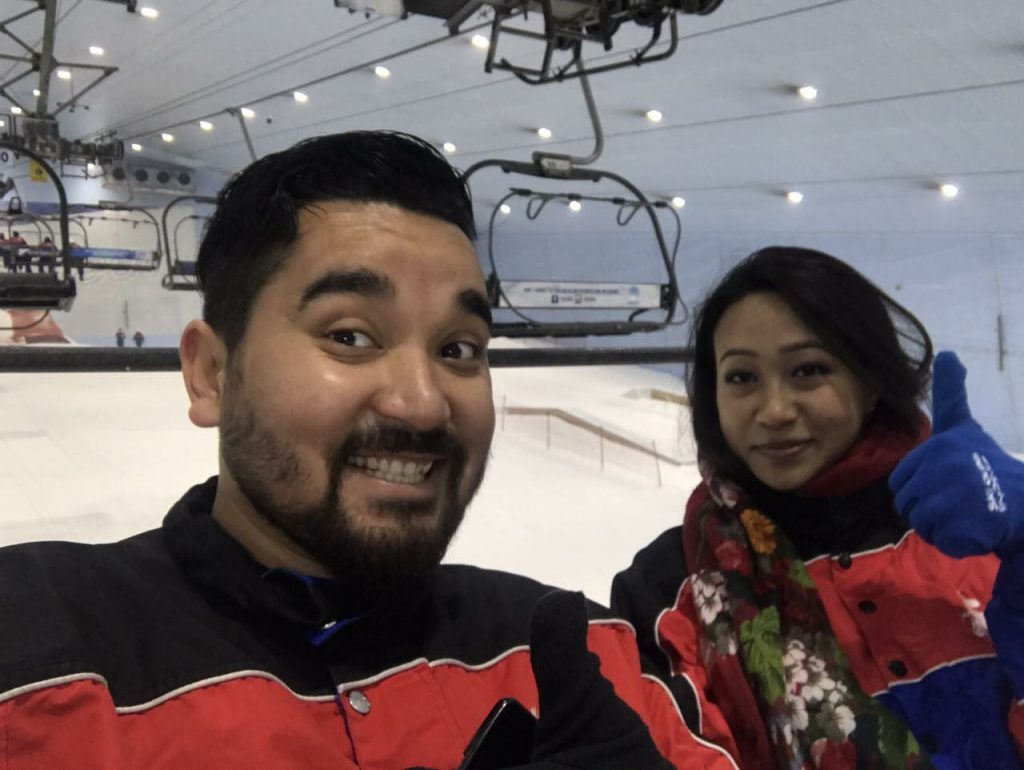 The two of us. Ski Dubai Mall
